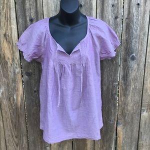 Merona purple boho peasant top